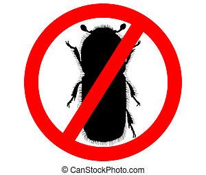 Bark-beetle prohibition sign