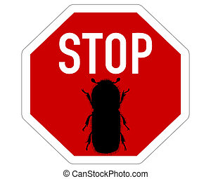 Bark-beetle stop sign