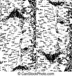 bark of birch in the cracks texture. Vector illustration.