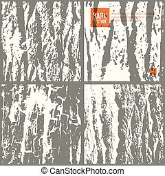 Bark tree texture set. Texture tracing with own original...