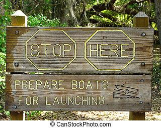 barkass, enastående, båt, underteckna