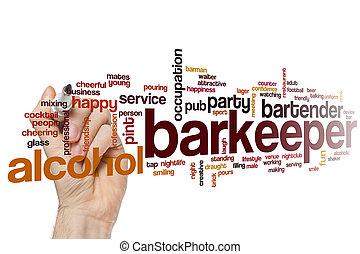 barkeeper, 単語, 雲