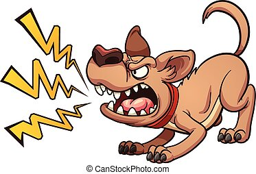 Barking dog - Cartoon barking dog. Vector clip art...