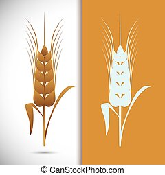 Barley Icons - Barley icons on white background, vector ...