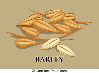 Barley Icons - Barley icons on white background, vector...
