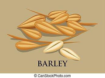 Barley icons on white background, vector illustration, EPS 10