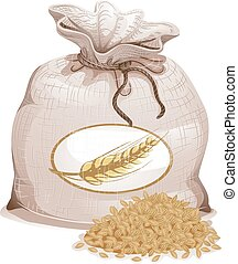 Barley Sack Grain Illustration