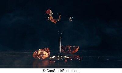 barman, barre, sert, cocktail