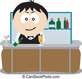Barman. Vector illustration for you design