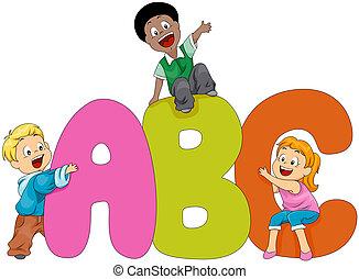 barn, alfabet