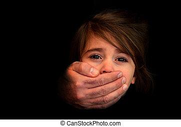 barn, enleveringen, -, begrepp, foto