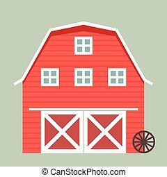 barn - minimalistic illustration of a barn, eps10 vector