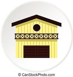 Barn for animals icon circle