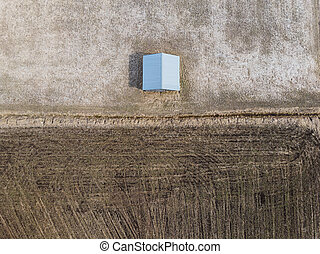 Barn House By The Plowed Field