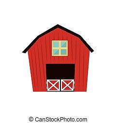 Barn House Farm Ranch Icon Vector Graphic