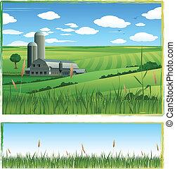 barn illustration background - harvest background