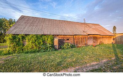 Barn in Latvian countryside