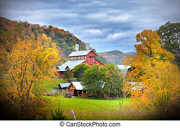 Barn in Vermont country side