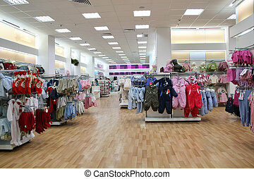 barn, klæder shop