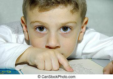 barn, läsning