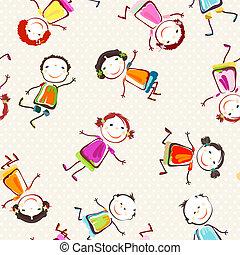 barn, lycklig