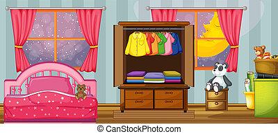 barn, mall, sovrum