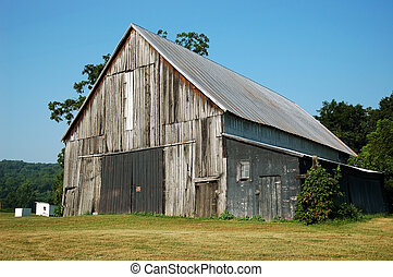 Barn *** Old abandoned barn on a horse farm in the hills of ...