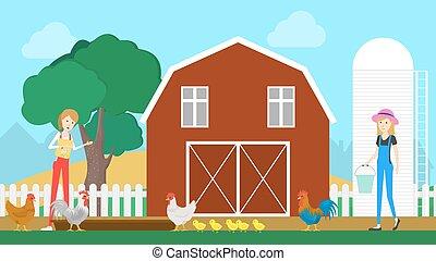 Barn on the farm.