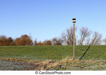 barn owl nest box - a purpose built nest box to encourage...