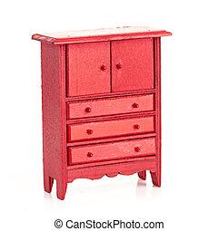 barn, röd, kabinett