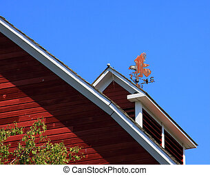 Barn Roof Line with Weather Vane