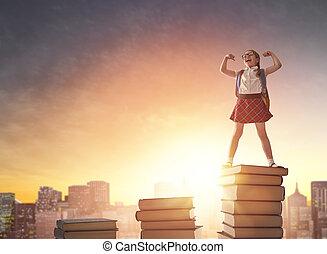 barn stå, böcker