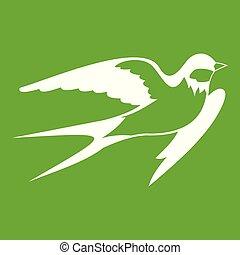 Barn swallow icon green