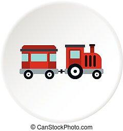 barn, tåg, för, promener, den, nöjesfält, ikon