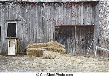 Barn with hay