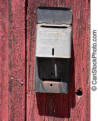 Barn Wood Mail Box