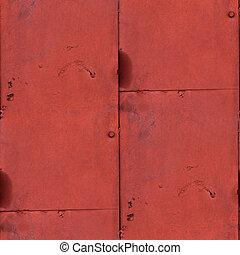 barna, öreg, háttér, elvont, fém, seamless, struktúra, festék, berozsdásodott, vas, grunge, rozsda