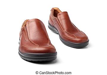 barna, cipők