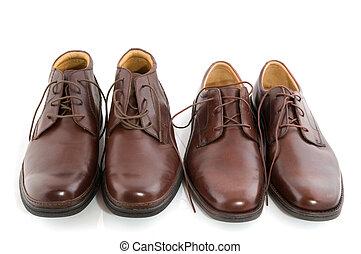 barna, fényes, cipők