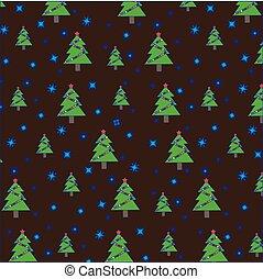 barna, hópihe, girland, motívum, fa, seamless, háttér., karácsony