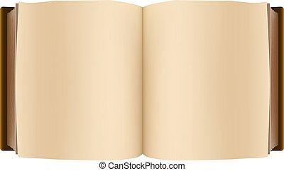 barna, könyv, nyílik