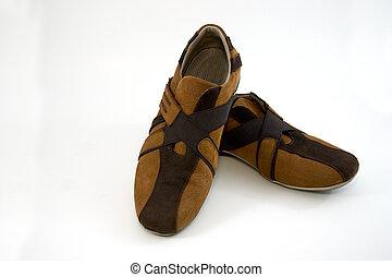 barna, modern, cipők, sport