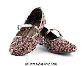 barna, növényvilág, befűz, motívum, nő, kényelmes cipő