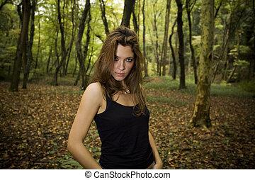 barna nő
