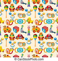 barnet, stykke legetøj, seamless, mønster