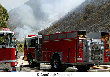 Barnett Fire - Brush fire in Ventura, California. The fire...