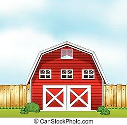 Barnhouse - Single barnhouse in the farmland