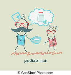barnläkare, säger, om, den, biljard, och, skänka, medicin, till, a, barn