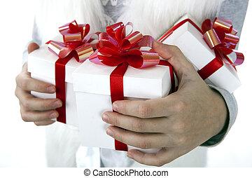 barns, rutor, gåva, räcker