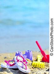barns, strand, tillbehör